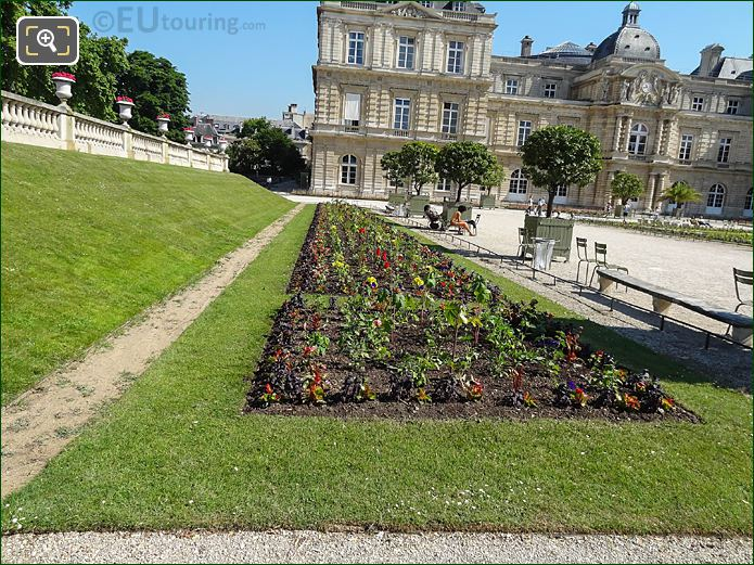 North West Parterre In Jardin Du Luxembourg