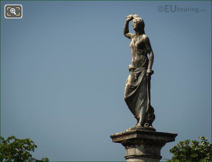 Goddess Of Love Statue In Central Garden Of Jardin Du Luxembourg