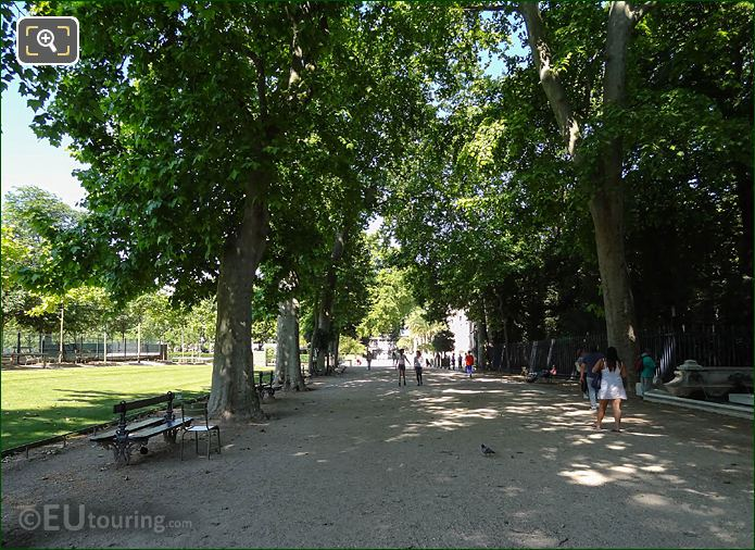Westerly View Of Pathway On NW Side Of Jardin Du Luxembourg