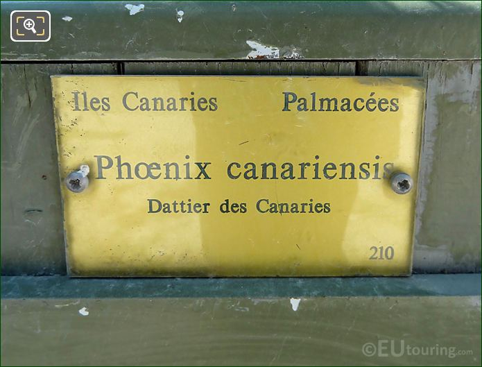 Tourist Information Plaque On Pot 210 Luxembourg Gardens