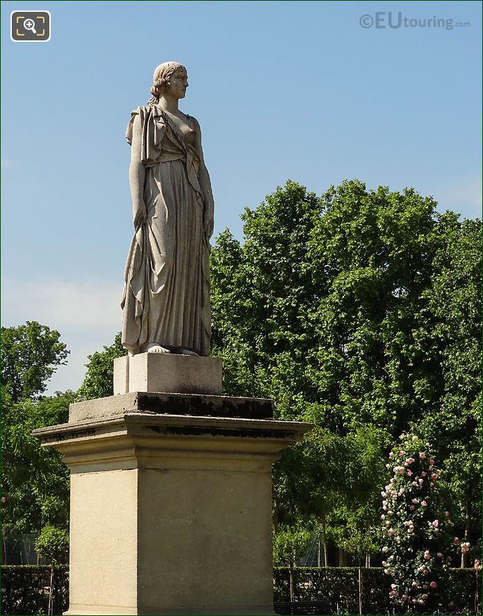 Jardin Du Luxembourg La Messagere Statue Rose Garden