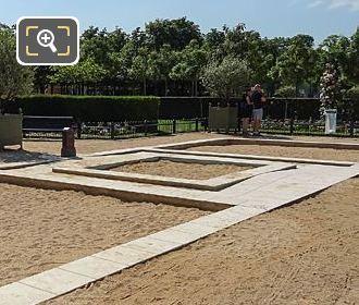 Children's Sand Pits In Jardin De La Roseraie