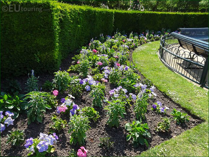 Flowerbed In Jardin De La Roseraie