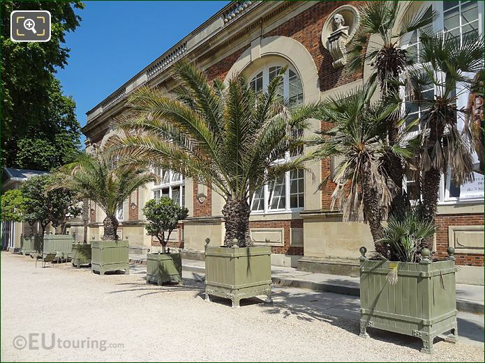Plant Pots In Front Of Orangerie In Luxembourg Gardens
