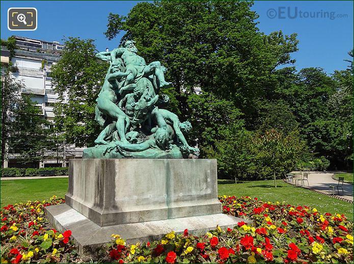 Jardin Du Luxembourg Triomphe De Silene Statue West Side