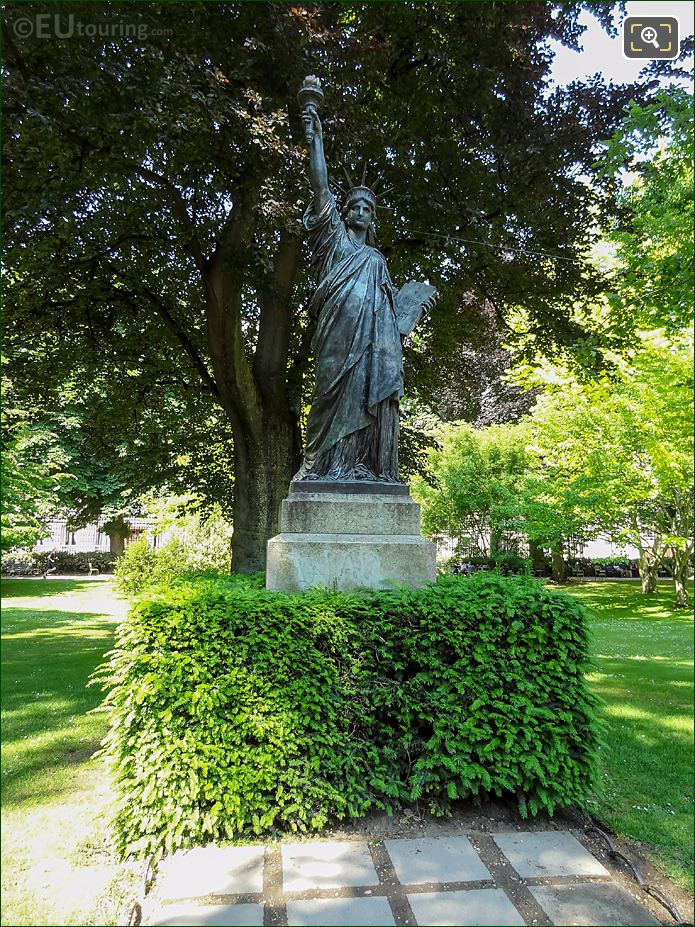 Jardin Du Luxembourg Statue Of Liberty Western Side Gardens