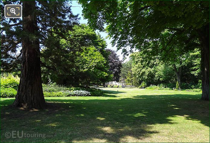 View Westerly Through Trees, Shrubs In Luxembourg Gardens SW Corner