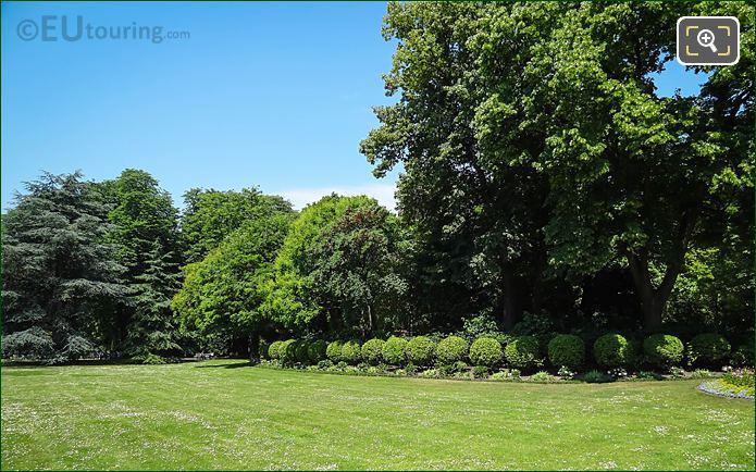 Round Bushes Inside Jardin Du Luxembourg
