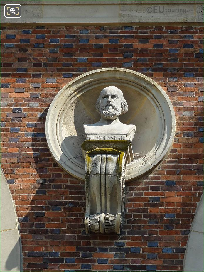 Jardin Du Luxembourg Theodore Rousseau Bust On Orangerie