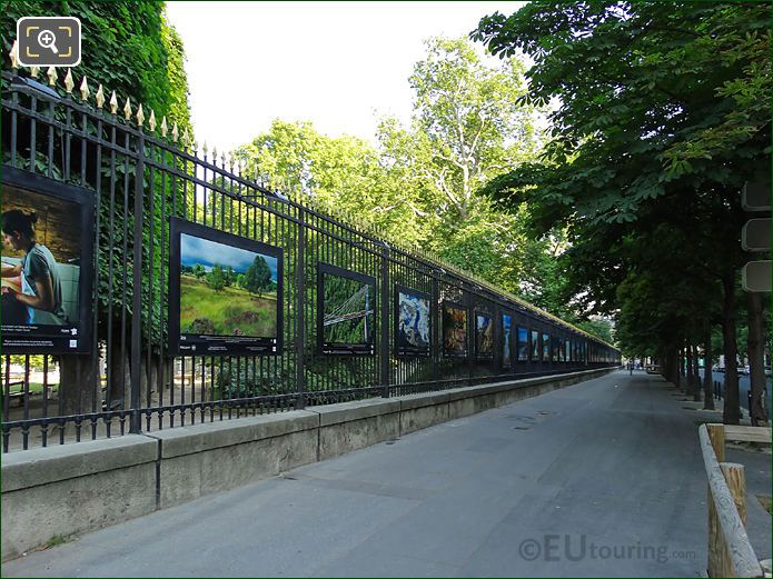 Jardin Du Luxembourg Information Boards Outside Railings Eastside