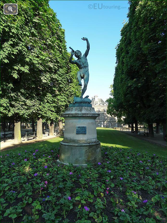 Jardin Du Luxembourg Faune Dansant Statue Eastside Of Gardens