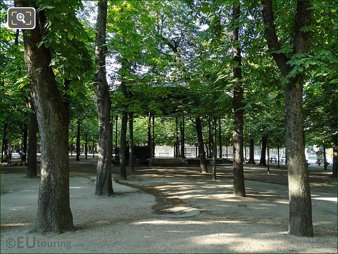 Bandstand On Eastern Side Of Jardin Du Luxembourg
