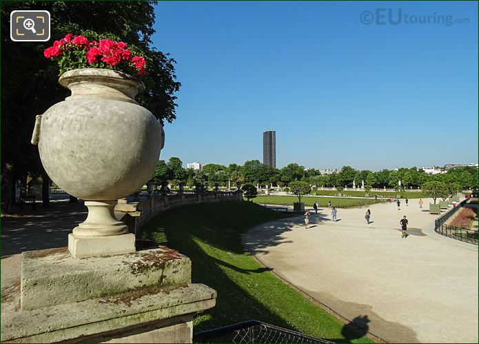 SW View From North End Steps Jardin Du Luxembourg East Terrace