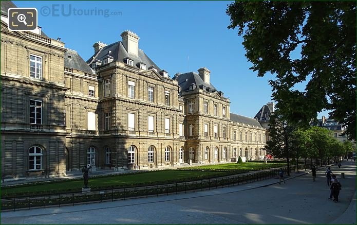 View North Along Eastern Facade Palais Du Luxembourg