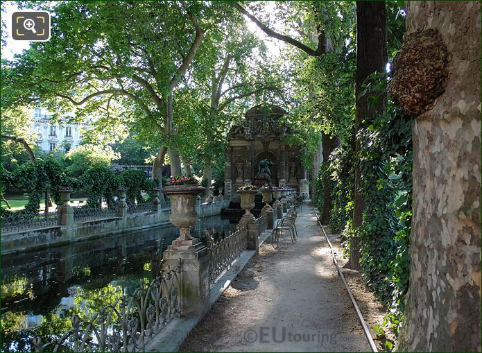 RHS Walkway Along Fontaine Medicis Water Feature