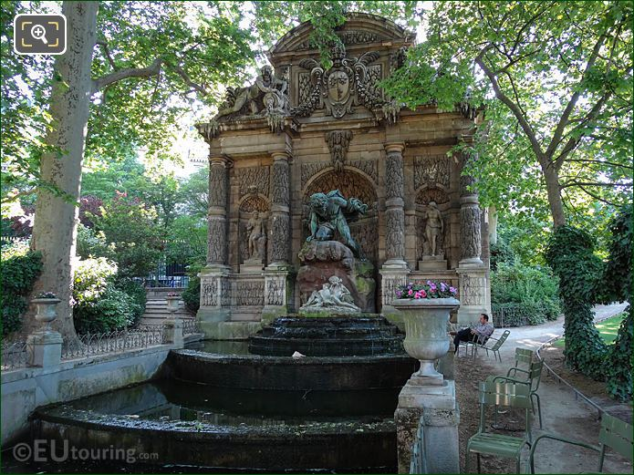 Fontaine Medicis Water Fountain In Jardin Du Luxembourg