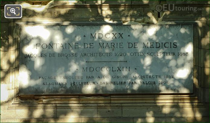 Tourist Information Plaque Above Fontaine De Leda