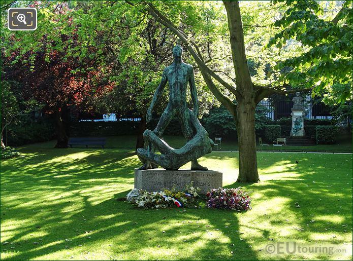 World War II Monument Inside Jardin du Luxembourg