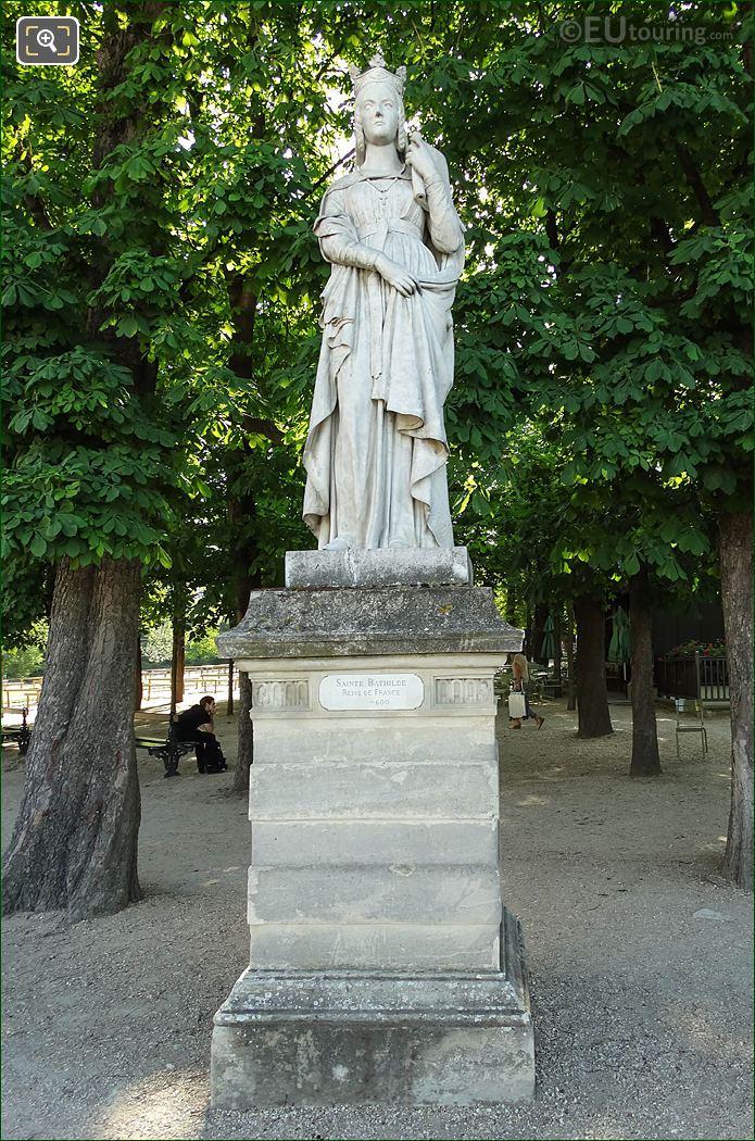 Jardin Du Luxembourg Sainte Bathilde Statue On Eastern Terrace