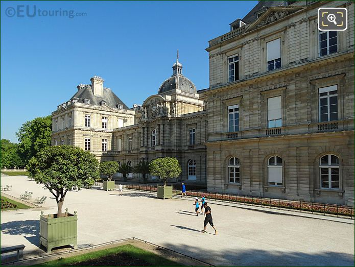 West View Along South Facade Palais Du Luxembourg In Luxembourg Grdns