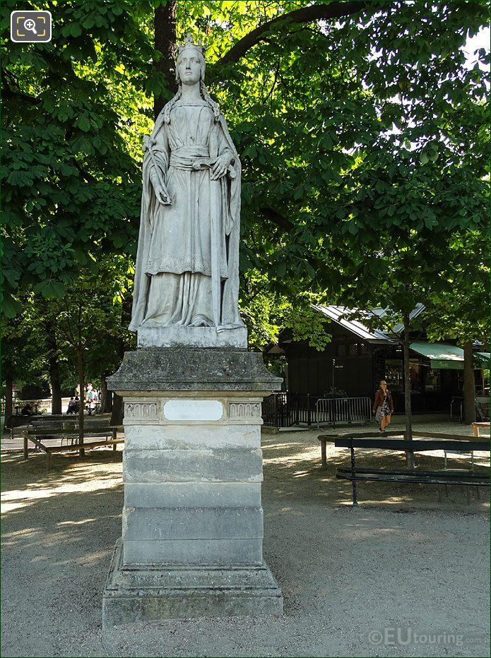 Jardin Du Luxembourg La Reine Mathilde Statue Eastern Terrace