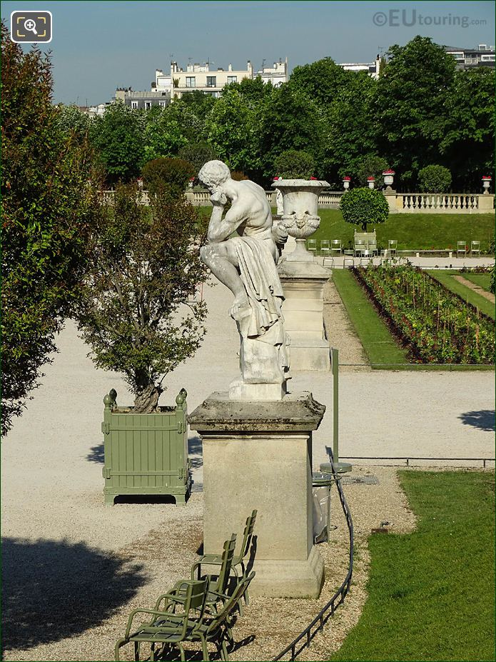 Westerly View From Eastern Terrace In Jardin Du Luxembourg