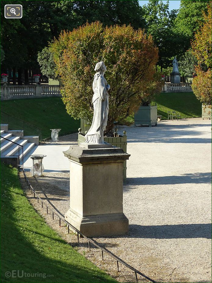 RHS Of Jardin Du Luxembourg Calliope Statue