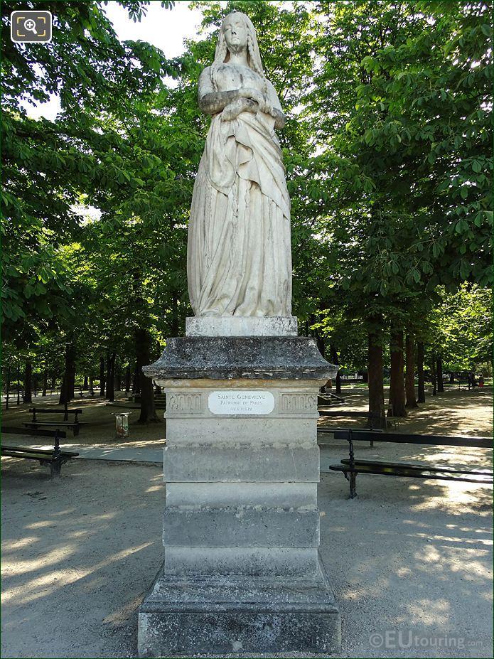 Jardin Du Luxembourg Sainte Genevieve Statue Eastern Terrace