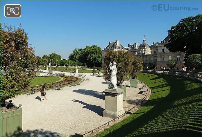 Eastern Terrace Looking NW Over Jardin Du Luxembourg