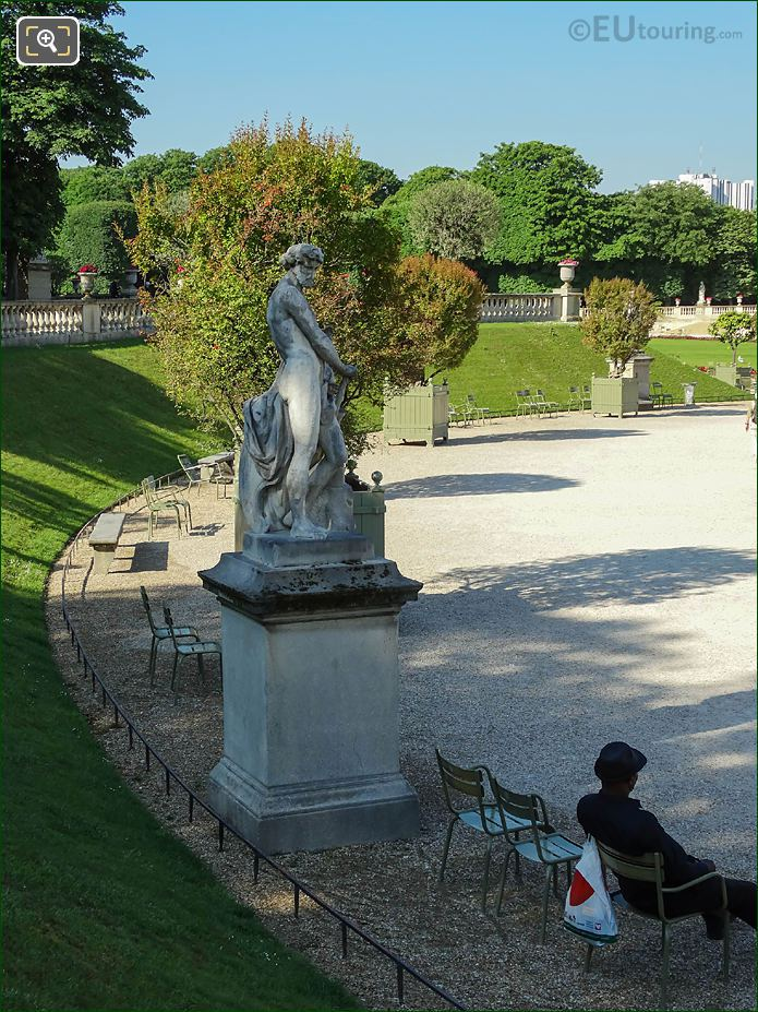 South View From Semicircular East Terrace Jardin Du Luxembourg
