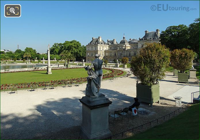 Eastern Semicircular Terrace Looking NW At Luxembourg Palace
