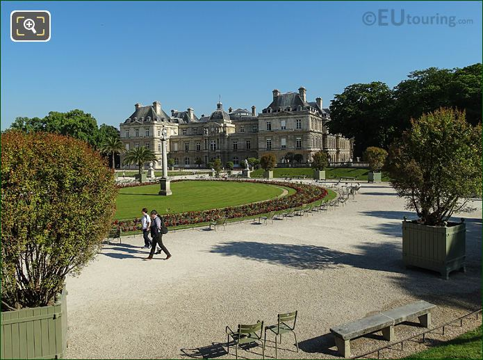 Jardin Du Luxembourg Eastern Semicircular Terrace Looking Northerly