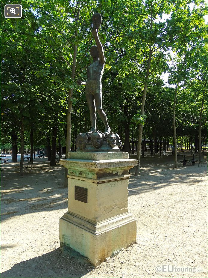 Jardin Du Luxembourg Merchant Of Masks Statue Eastside