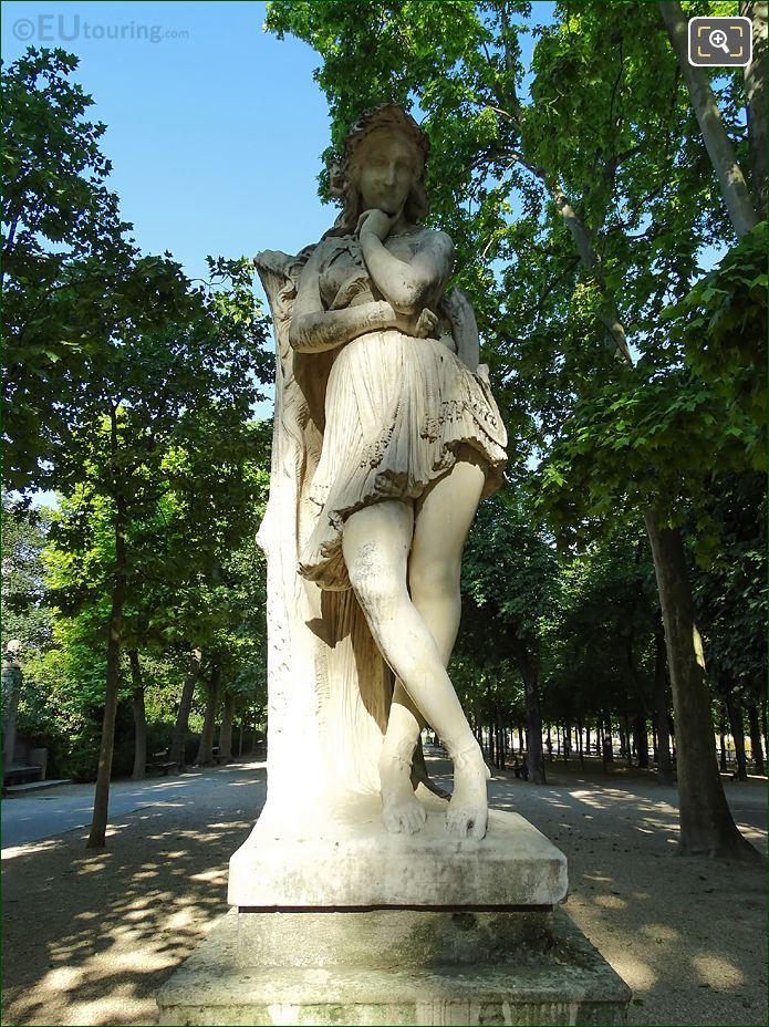 Jardin Du Luxembourg Veleda Statue Gardens East Side