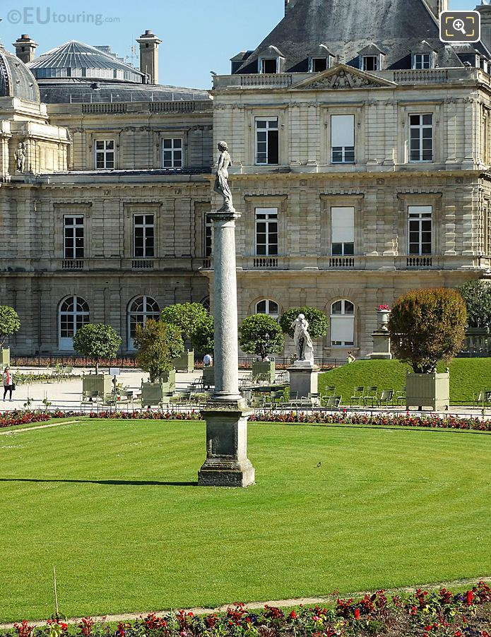 Historical Statues In Front Of Palais Du Luxembourg