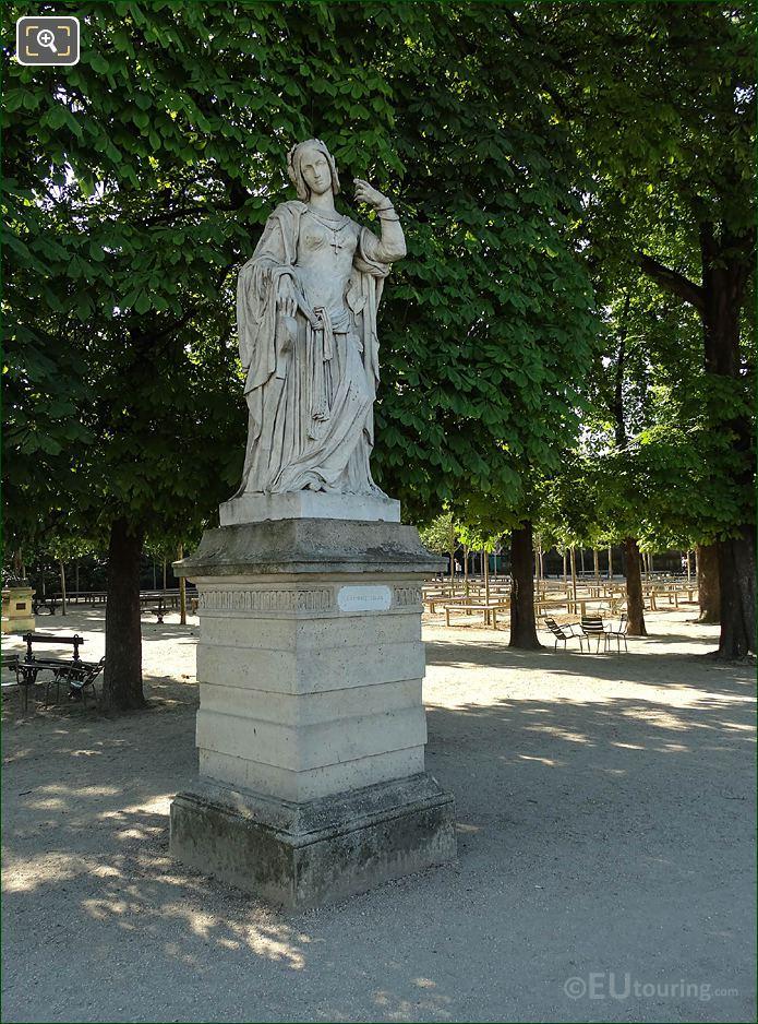 Jardin Du Luxembourg Clemence Isaure Statue On Eastern Terrace