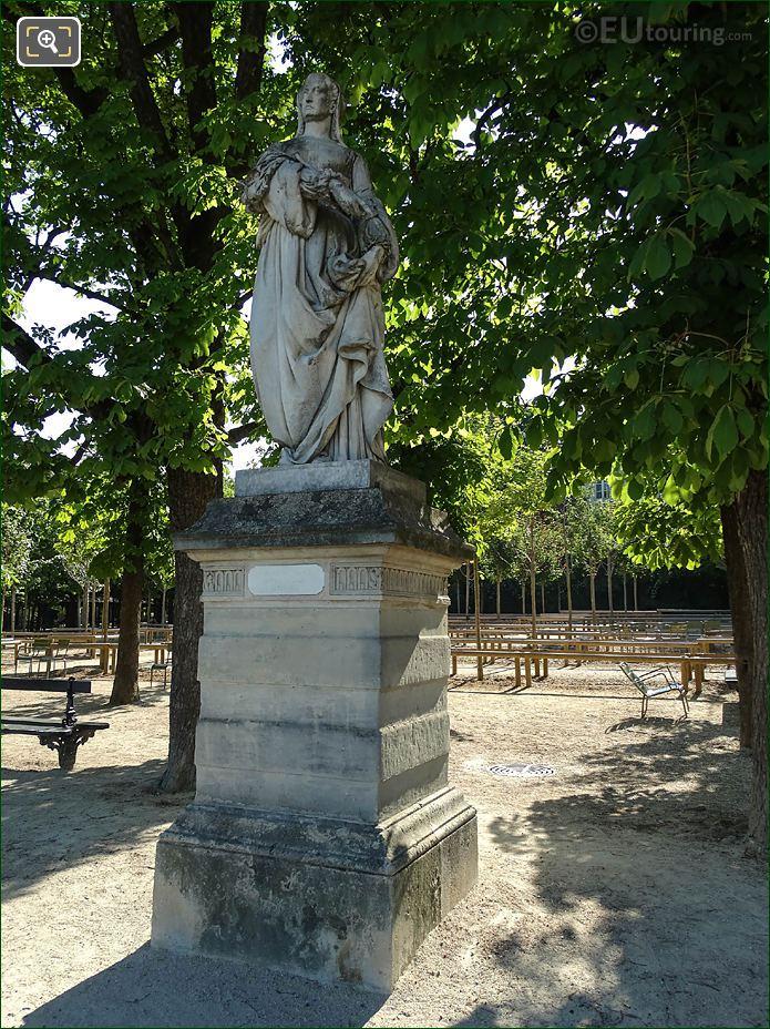 Jardin Du Luxembourg Louise Of Savoy Statue Eastern Terrace