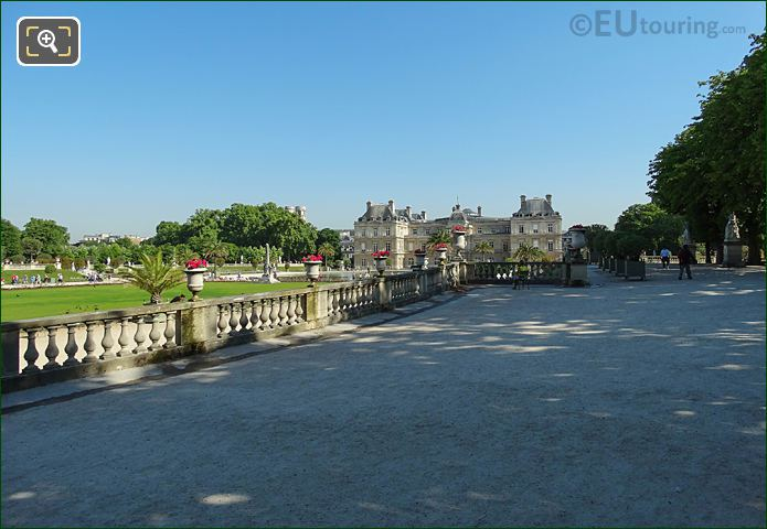 View From South Eastern Terrace Looking At Luxembourg Palace