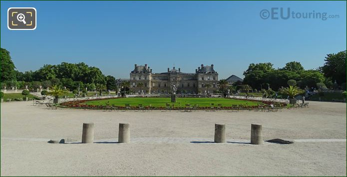 Luxembourg Gardens Looking Towards Palais Du Luxembourg