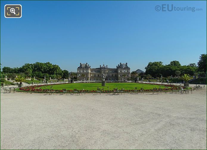 Central Garden And Palais Du Luxembourg South Facade