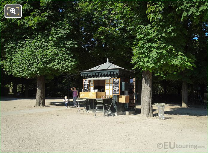 Kiosk 7 In Jardin Du Luxembourg Paris