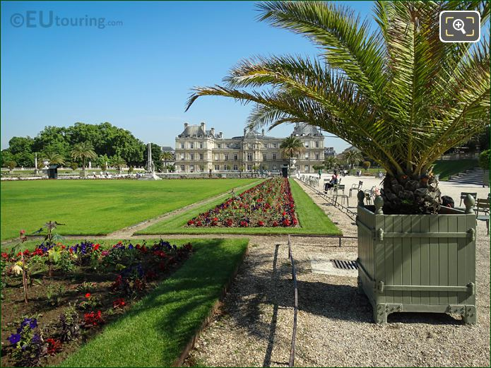 View Down East Side Of Garden Towards Palais Du Luxembourg