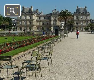 South East Gravel Path Leading To Palais Du Luxembourg