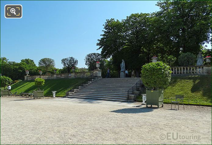 Jardin Du Luxembourg South End Staircase To Eastern Terrace