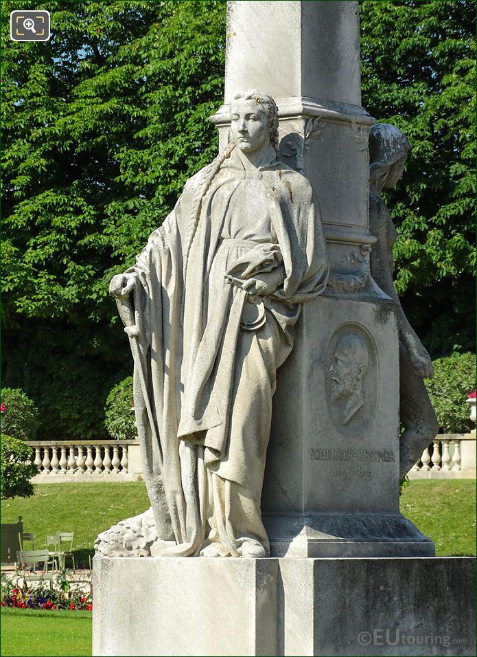 Jardin Du Luxembourg Justice Statue Scheurer Kestner Monument