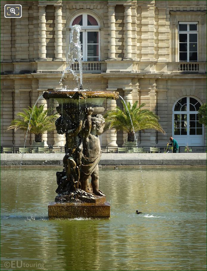 Enfants Supportant Une Vasque Fountain