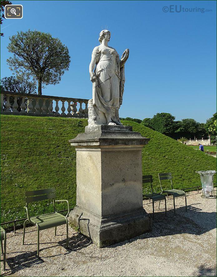 East Side Flore Statue In Jardin du Luxembourg