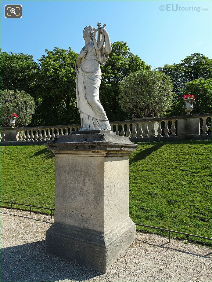 Jardin Du Luxembourg Goddess Of Music Statue Central Garden