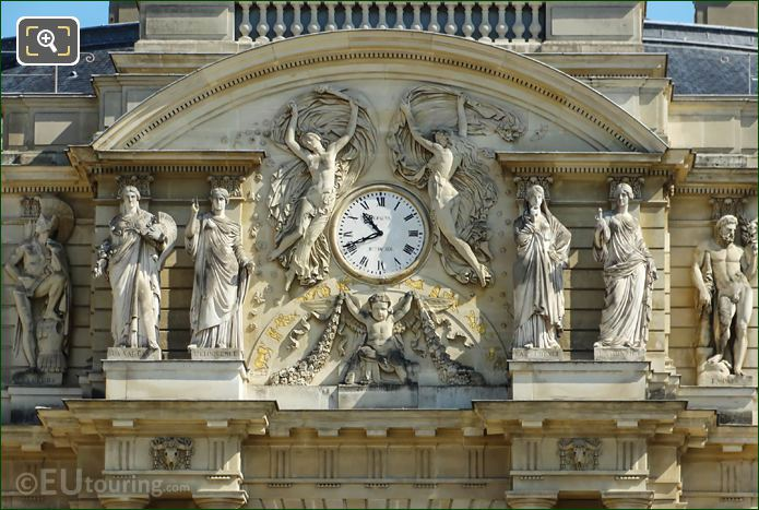 Palais Du Luxembourg Clock And Statues