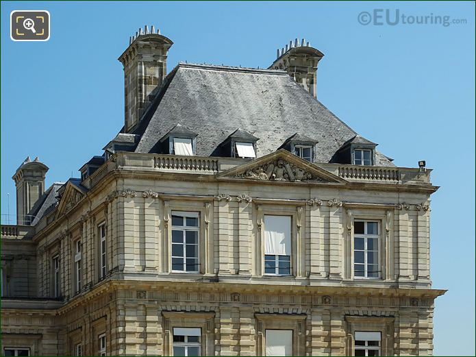Roof Of South East Pavillon Of Palais Du Luxembourg